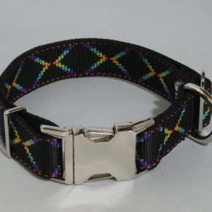 An image of a neon designer dog collar TheUltimateLeash.com