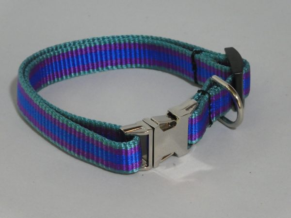 An image of a striped small dog collar from TheUltimateLeash.com