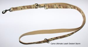 An image of the camo dog leash from The Ultimate Leash Camo Series