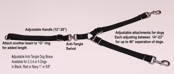 An image of an adjustable dog brace from TheUltimateLeash.com.