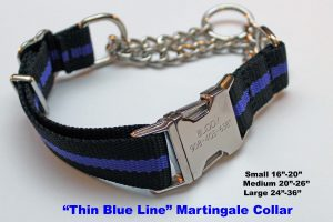 An image of a Blue Line martingale dog collar from TheUltimateLeash.com