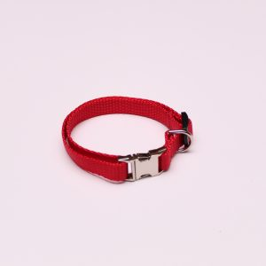 An image of a small red dog collar from TheUltimateLeash.com