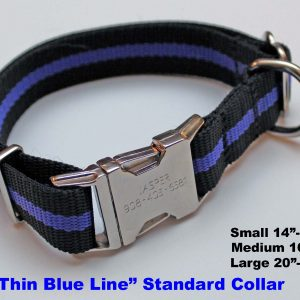An image of a Blue Line dog collar from TheUltimateLeash.com