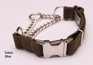 An image of a cotton martingale dog collar from the Martingale Collar Cotton Series