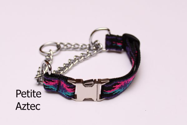An image of a small martingale dog collar from the Martingale Collar Petite Series
