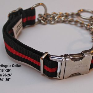 An image of a Red Line martingale dog collar from TheUltimateLeash.com