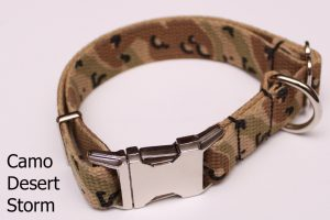 An image of a camouflage dog collar from TheUltimateLeash.com