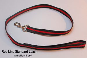 An image of a Red Line standard dog leash from TheUltimateLeash.com