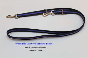 An image of a Blue Line dog leash from TheUltimateLeash.com
